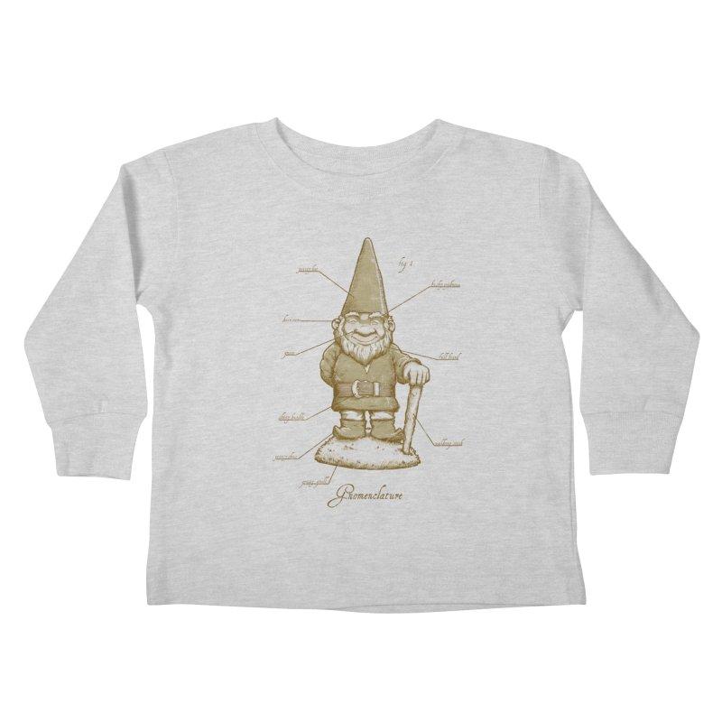 Gnomenclature Kids Toddler Longsleeve T-Shirt by sketchboy01's Artist Shop