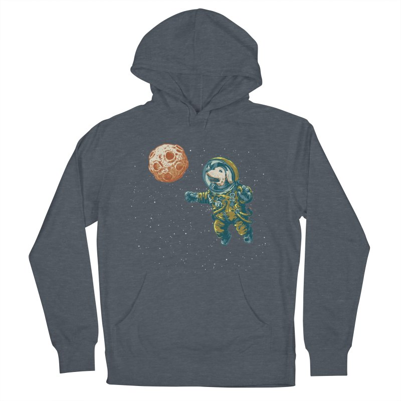 Soviet Space Dog Fetching Planet Women's Pullover Hoody by sketchboy01's Artist Shop