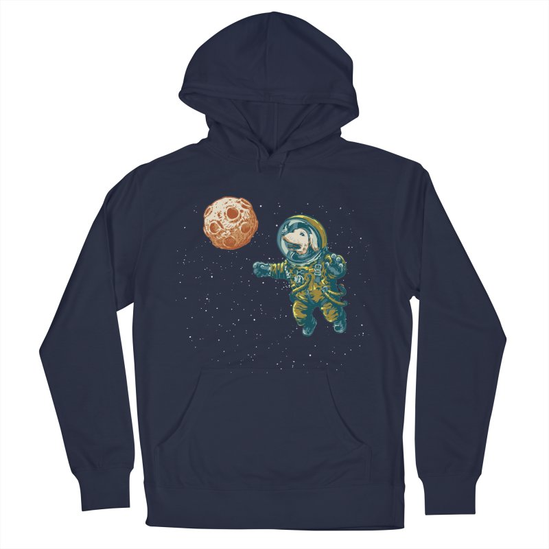 Soviet Space Dog Fetching Planet Men's Pullover Hoody by sketchboy01's Artist Shop