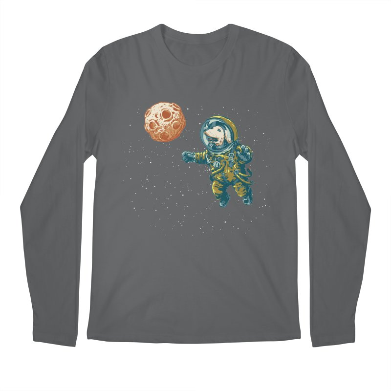 Soviet Space Dog Fetching Planet Men's Longsleeve T-Shirt by sketchboy01's Artist Shop