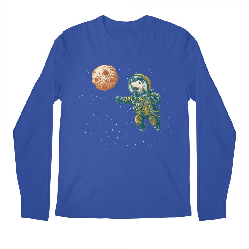 Soviet Space Dog Fetching Planet Men's Longsleeve T-Shirt by sketchboy01's Artist Shop