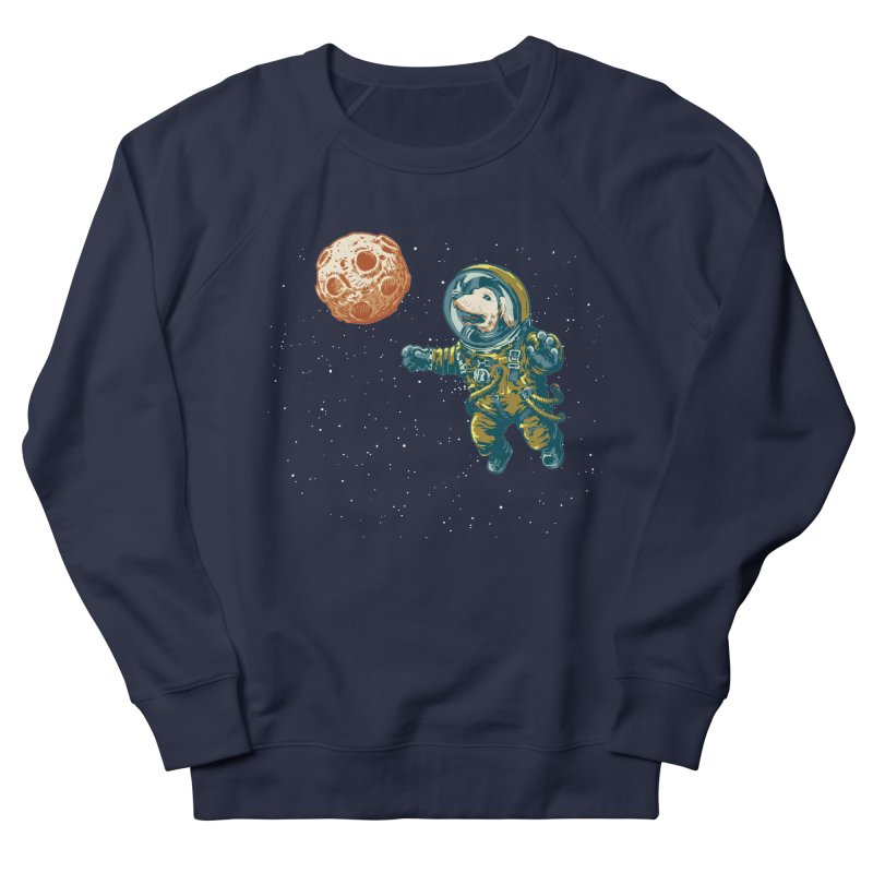 Soviet Space Dog Fetching Planet Women's Sweatshirt by sketchboy01's Artist Shop