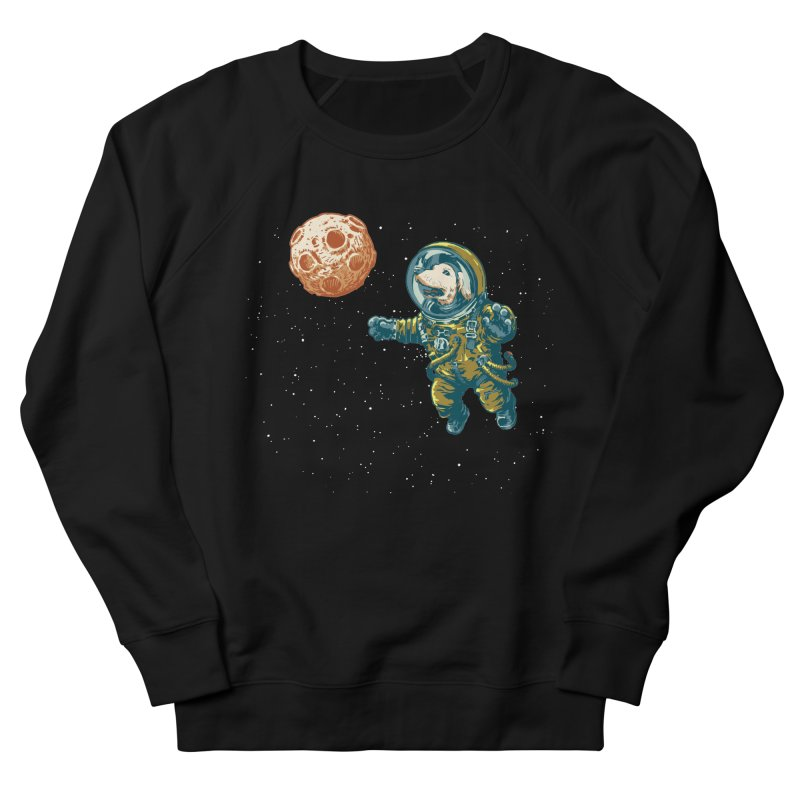 Soviet Space Dog Fetching Planet Men's Sweatshirt by sketchboy01's Artist Shop