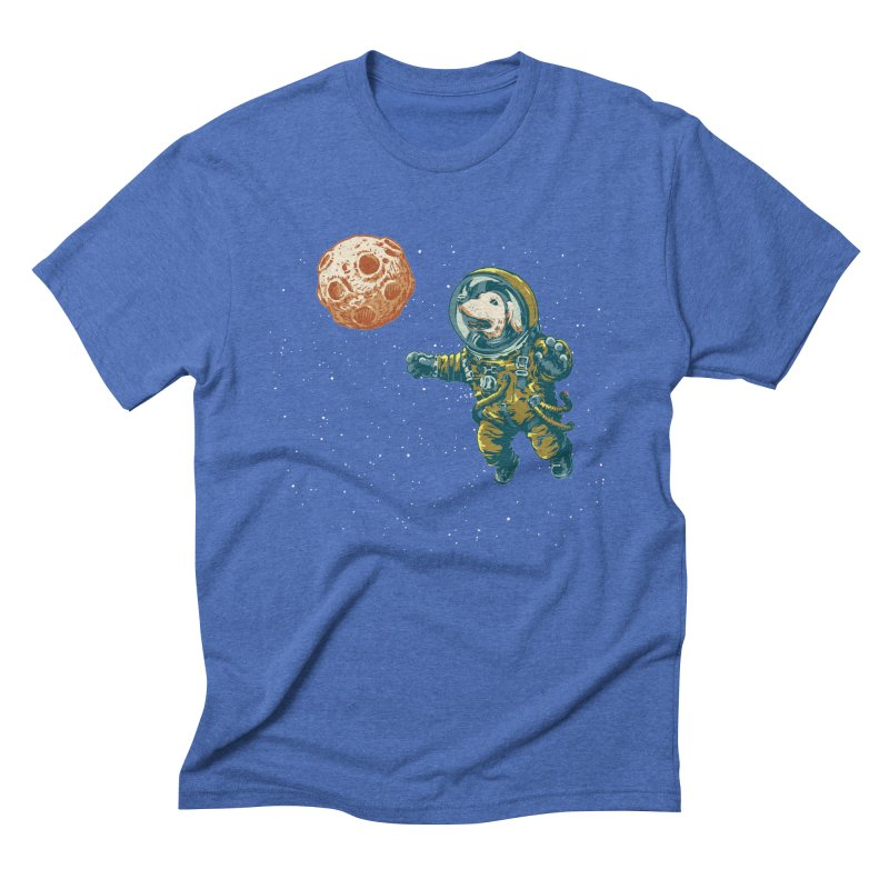 Soviet Space Dog Fetching Planet Men's Triblend T-shirt by sketchboy01's Artist Shop