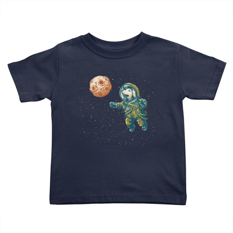 Soviet Space Dog Fetching Planet Kids Toddler T-Shirt by sketchboy01's Artist Shop