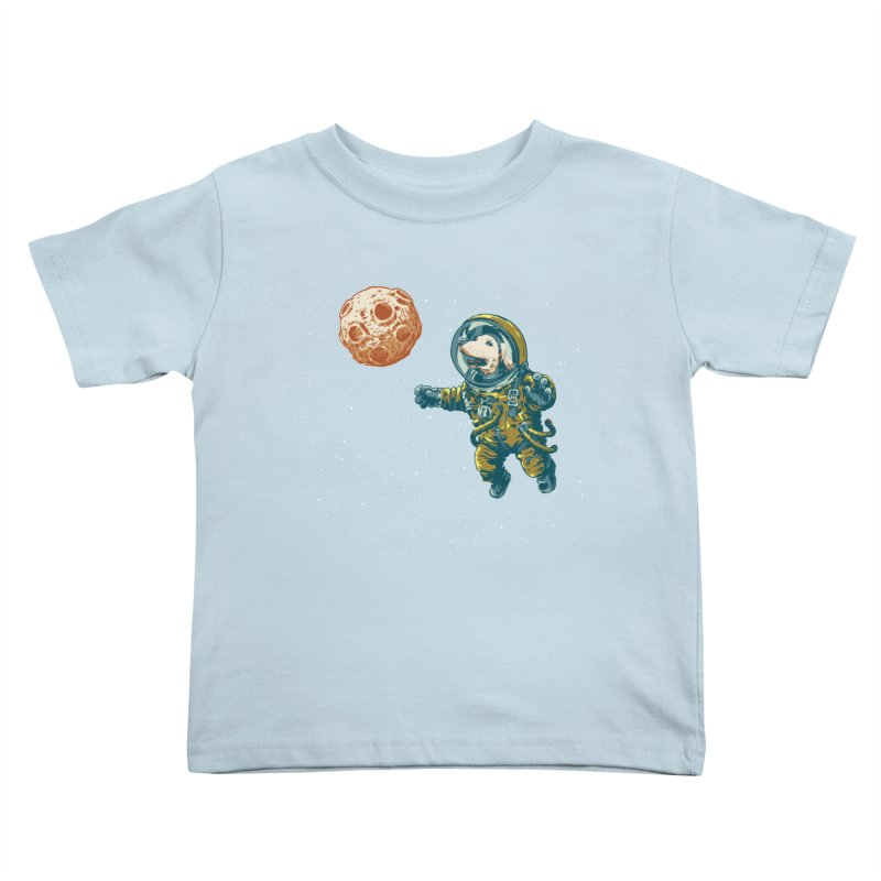 Soviet Space Dog Fetching Planet Kids Toddler T-Shirt by sketchboy01's Artist Shop