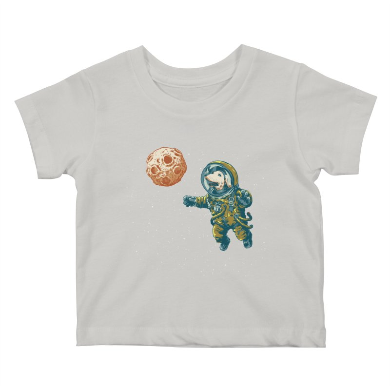 Soviet Space Dog Fetching Planet Kids Baby T-Shirt by sketchboy01's Artist Shop