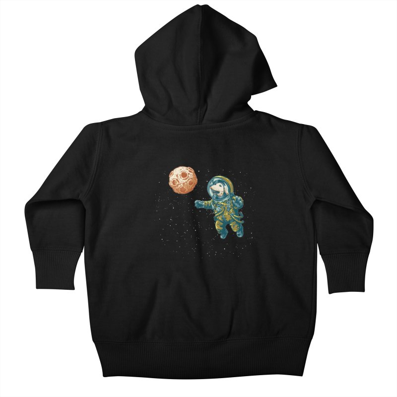 Soviet Space Dog Fetching Planet Kids Baby Zip-Up Hoody by sketchboy01's Artist Shop