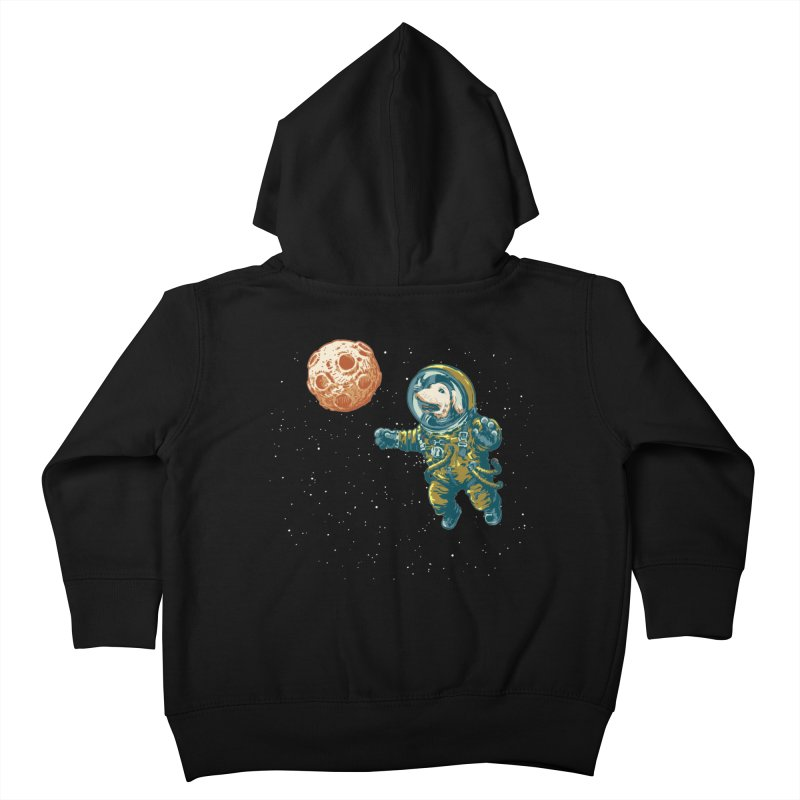 Soviet Space Dog Fetching Planet Kids Toddler Zip-Up Hoody by sketchboy01's Artist Shop