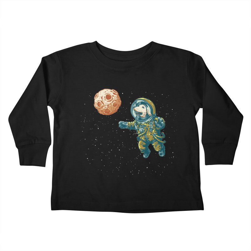 Soviet Space Dog Fetching Planet Kids Toddler Longsleeve T-Shirt by sketchboy01's Artist Shop