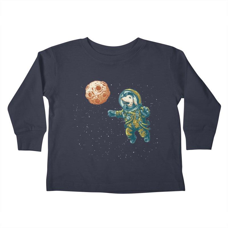 Soviet Space Dog Fetching Planet Kids Toddler Longsleeve T-Shirt by sketchboy01's Artist Shop