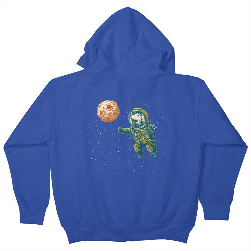 Soviet Space Dog Fetching Planet Kids Zip-Up Hoody by sketchboy01's Artist Shop