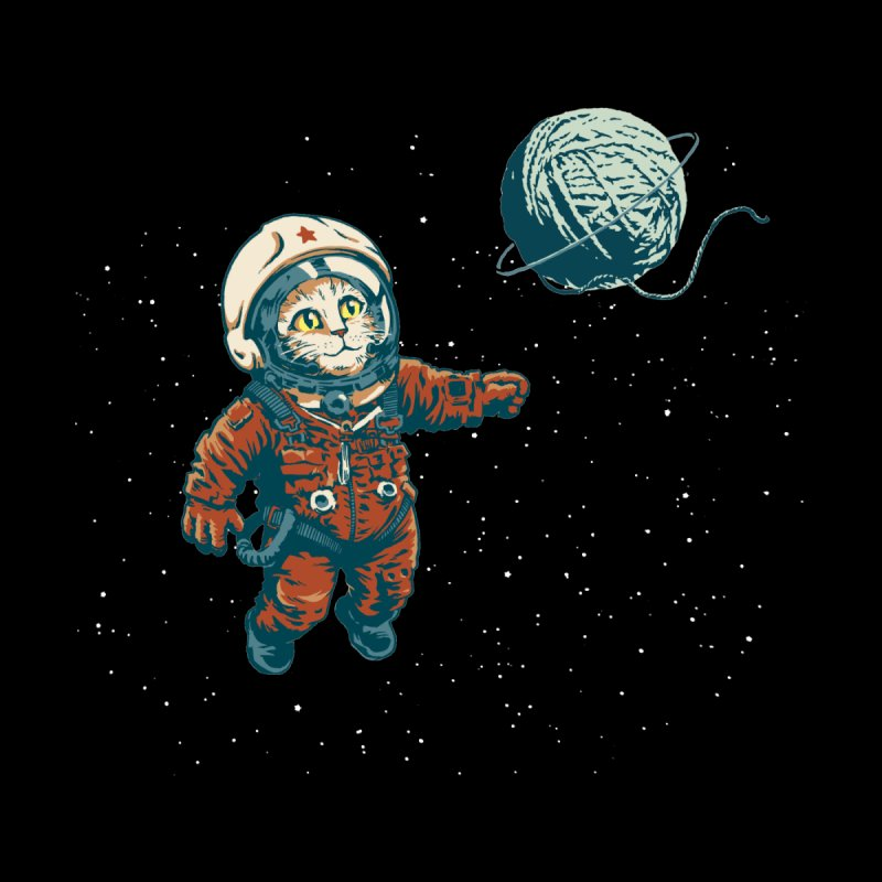 Soviet Space Cat Yarn Planet by sketchboy01's Artist Shop