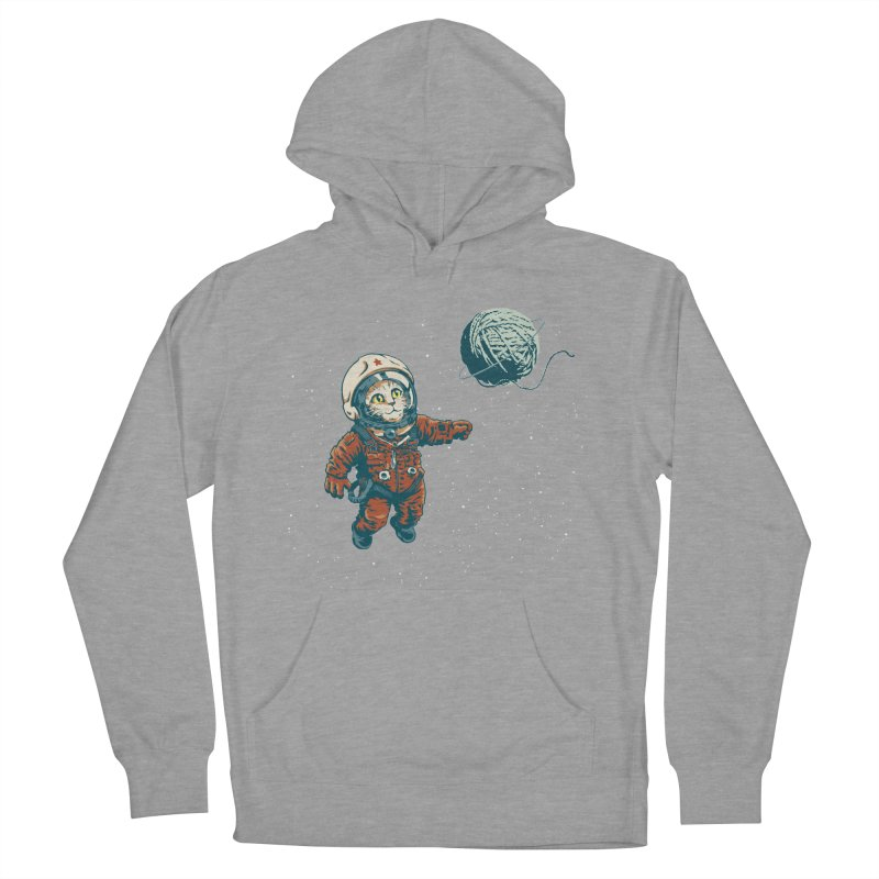 Soviet Space Cat Yarn Planet Women's Pullover Hoody by sketchboy01's Artist Shop