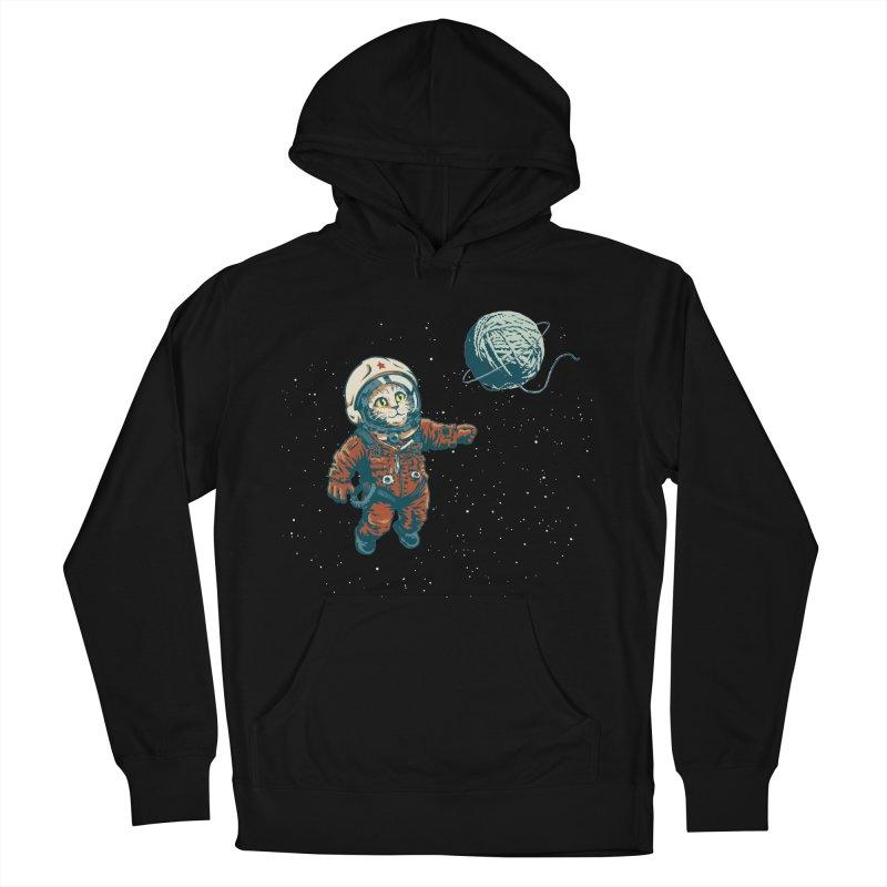 Soviet Space Cat Yarn Planet Men's Pullover Hoody by sketchboy01's Artist Shop