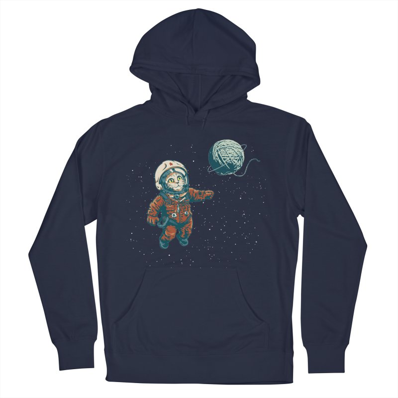 Soviet Space Cat Yarn Planet Men's Pullover Hoody by sketchboy01's Artist Shop