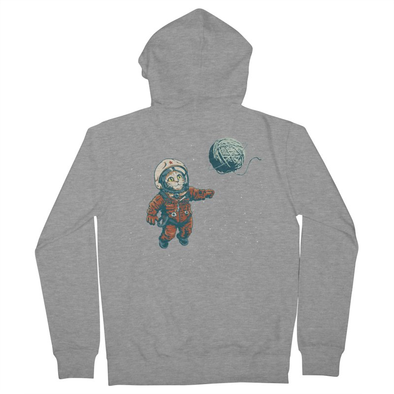 Soviet Space Cat Yarn Planet Women's Zip-Up Hoody by sketchboy01's Artist Shop