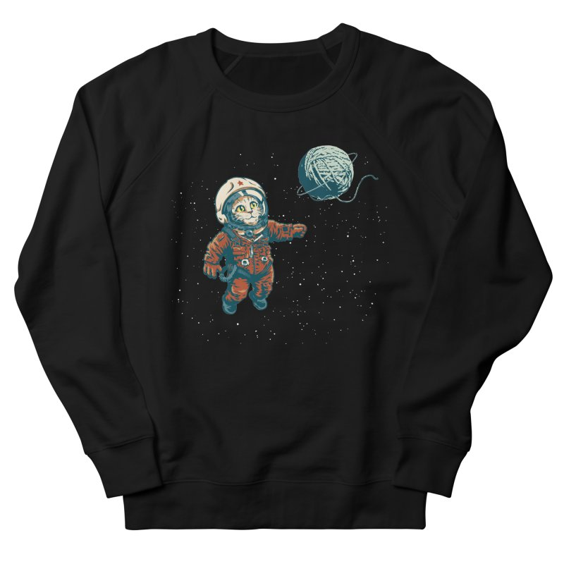 Soviet Space Cat Yarn Planet Women's Sweatshirt by sketchboy01's Artist Shop