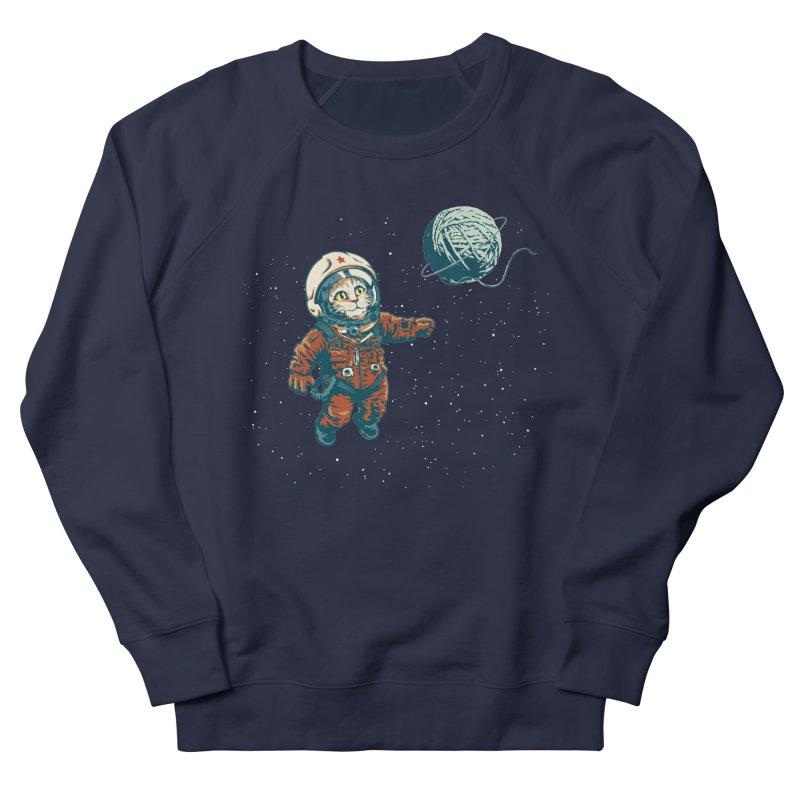 Soviet Space Cat Yarn Planet Men's Sweatshirt by sketchboy01's Artist Shop