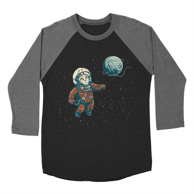 Soviet Space Cat Yarn Planet Women's Baseball Triblend T-Shirt by sketchboy01's Artist Shop