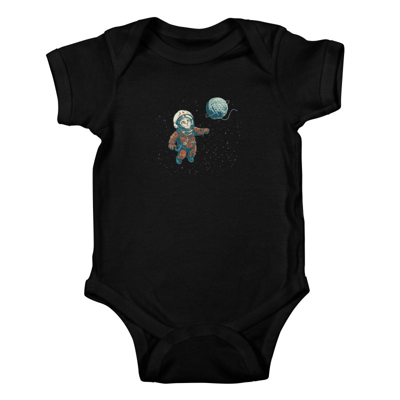 Soviet Space Cat Yarn Planet Kids Baby Bodysuit by sketchboy01's Artist Shop
