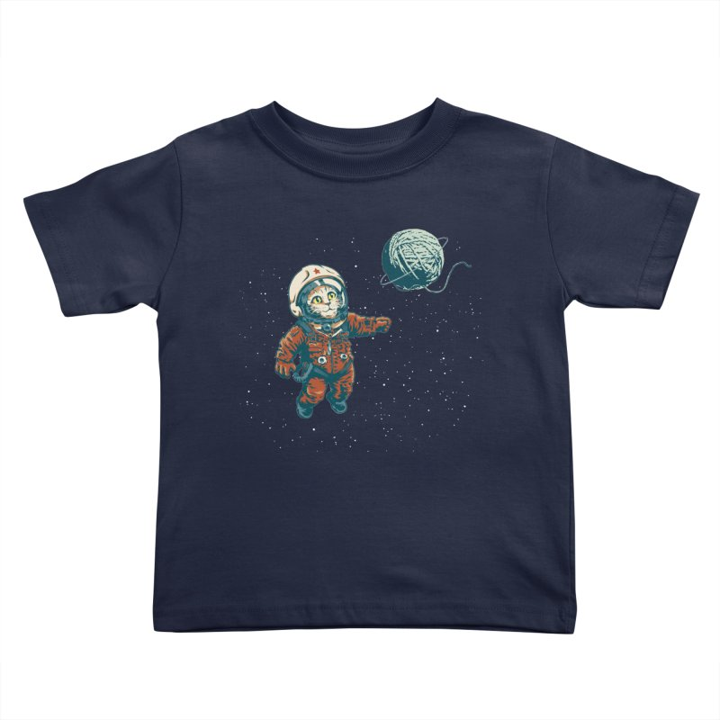 Soviet Space Cat Yarn Planet Kids Toddler T-Shirt by sketchboy01's Artist Shop