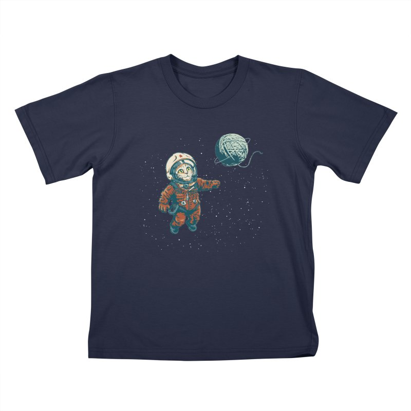 Soviet Space Cat Yarn Planet Kids T-shirt by sketchboy01's Artist Shop