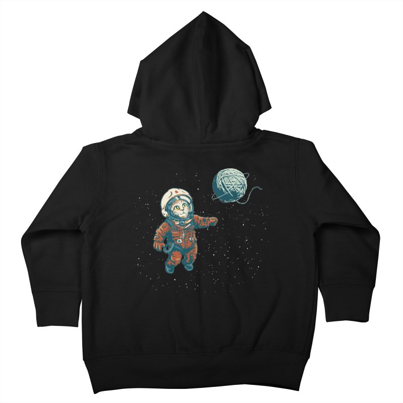 Soviet Space Cat Yarn Planet Kids Toddler Zip-Up Hoody by sketchboy01's Artist Shop