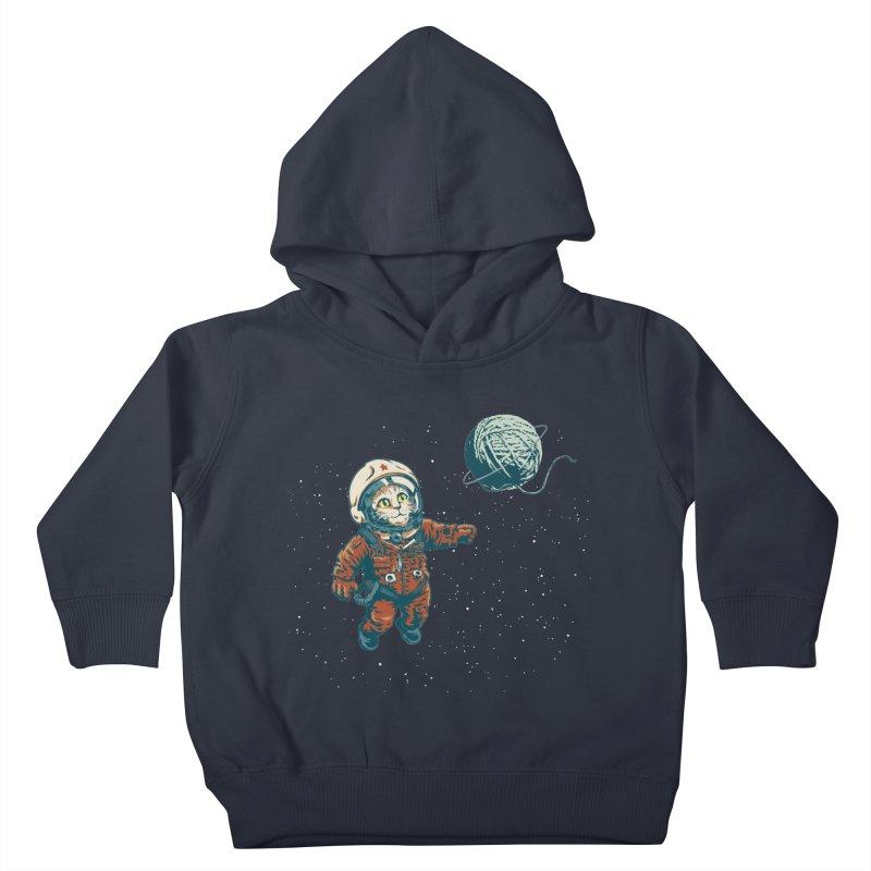 Soviet Space Cat Yarn Planet Kids Toddler Pullover Hoody by sketchboy01's Artist Shop