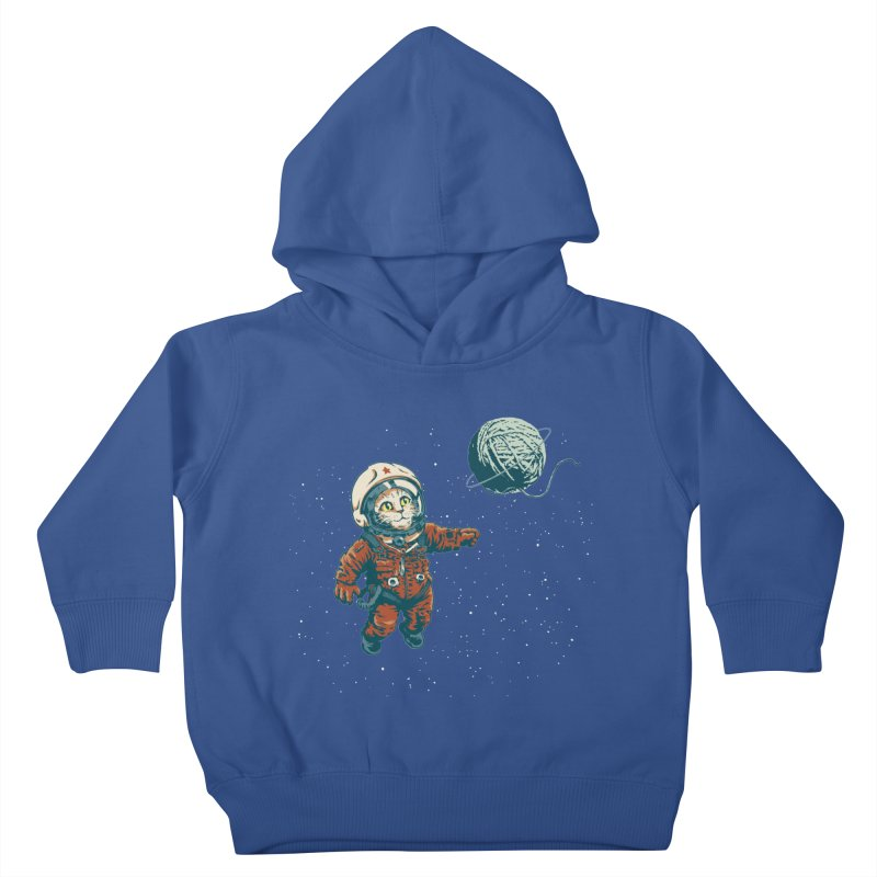 Soviet Space Cat Yarn Planet Kids Toddler Pullover Hoody by sketchboy01's Artist Shop