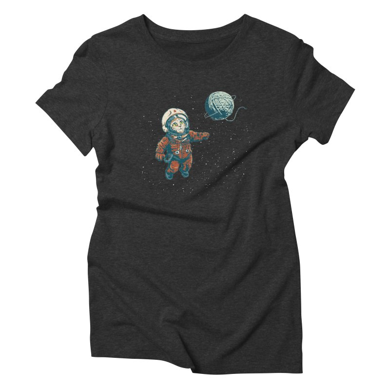 Soviet Space Cat Yarn Planet Women's Triblend T-shirt by sketchboy01's Artist Shop