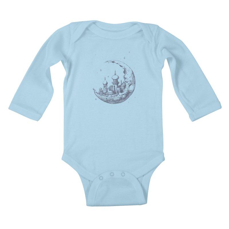 Arabian Crescent Kids Baby Longsleeve Bodysuit by sketchboy01's Artist Shop