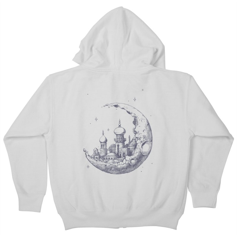 Arabian Crescent Kids Zip-Up Hoody by sketchboy01's Artist Shop