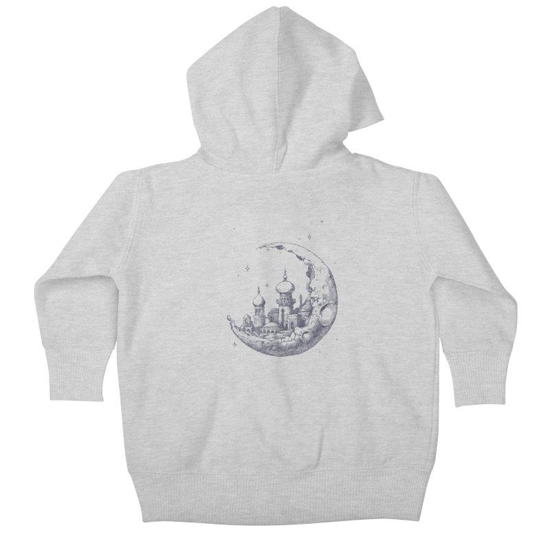Arabian Crescent Kids Baby Zip-Up Hoody by sketchboy01's Artist Shop