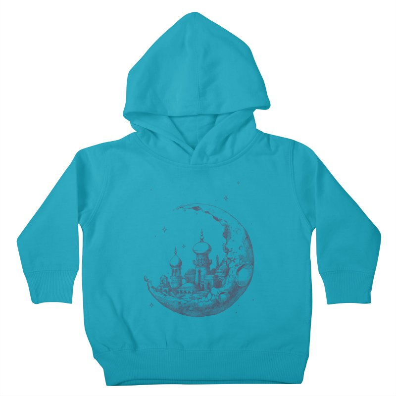 Arabian Crescent Kids Toddler Pullover Hoody by sketchboy01's Artist Shop