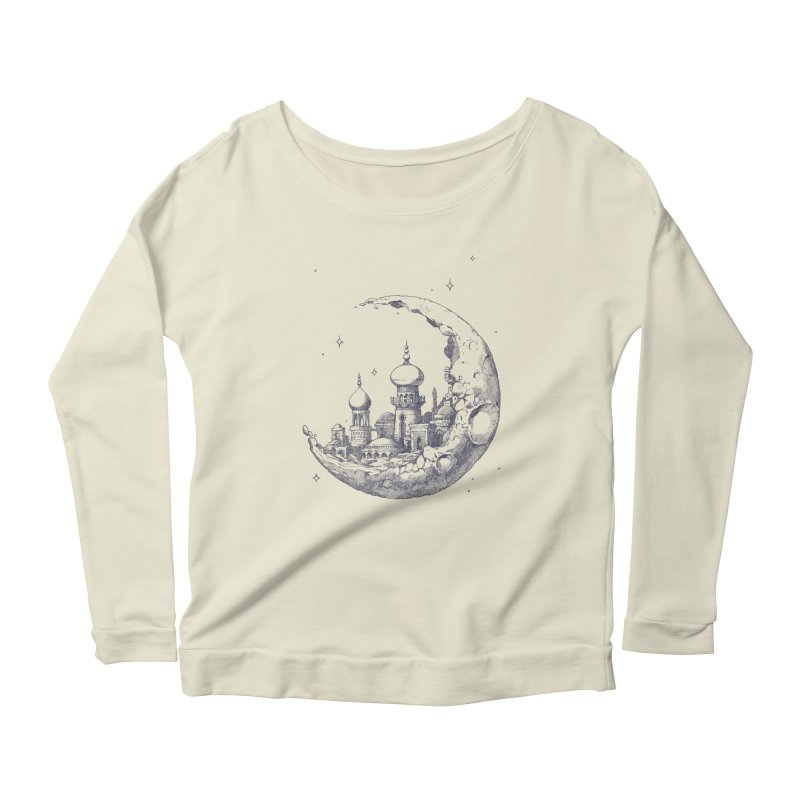 Arabian Crescent Women's Longsleeve Scoopneck  by sketchboy01's Artist Shop
