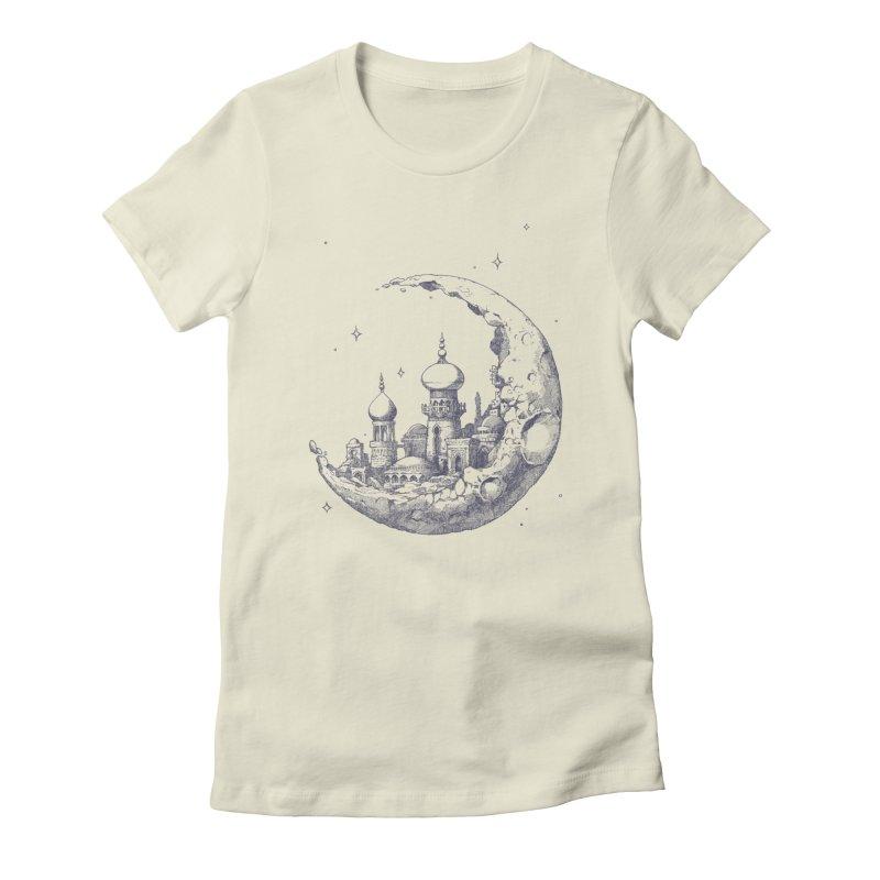 Arabian Crescent Women's Fitted T-Shirt by sketchboy01's Artist Shop