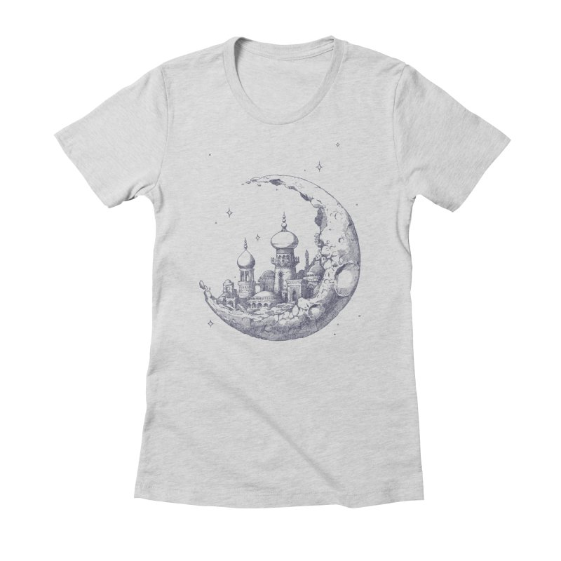 Arabian Crescent Women's Fitted T-Shirt by sketchboy01's Artist Shop