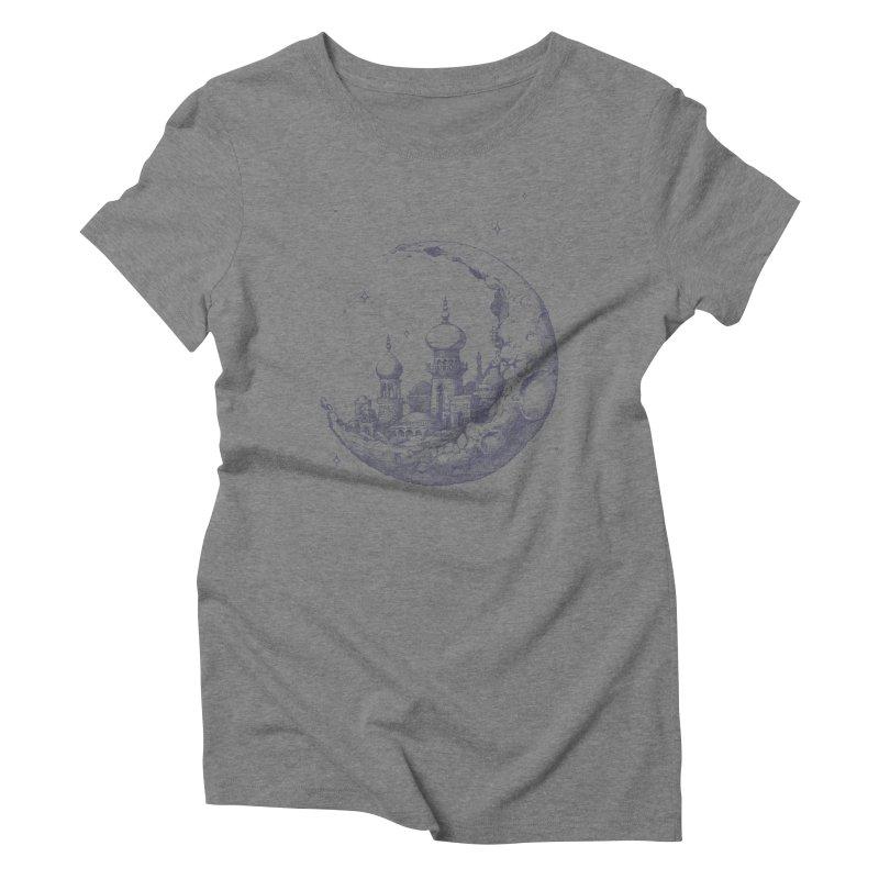 Arabian Crescent Women's Triblend T-shirt by sketchboy01's Artist Shop