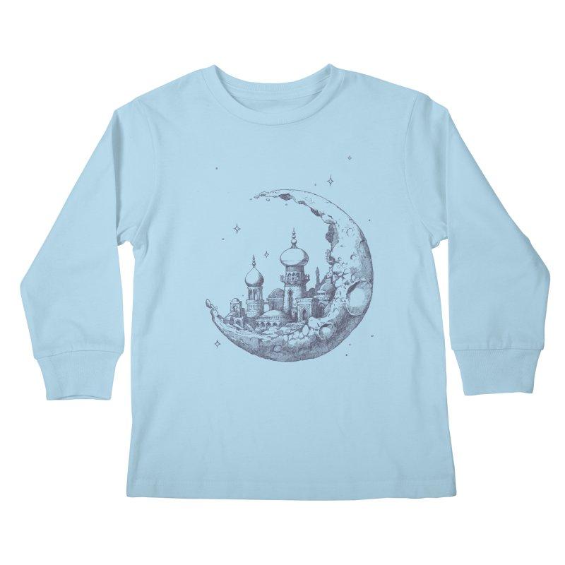 Arabian Crescent Kids Longsleeve T-Shirt by sketchboy01's Artist Shop