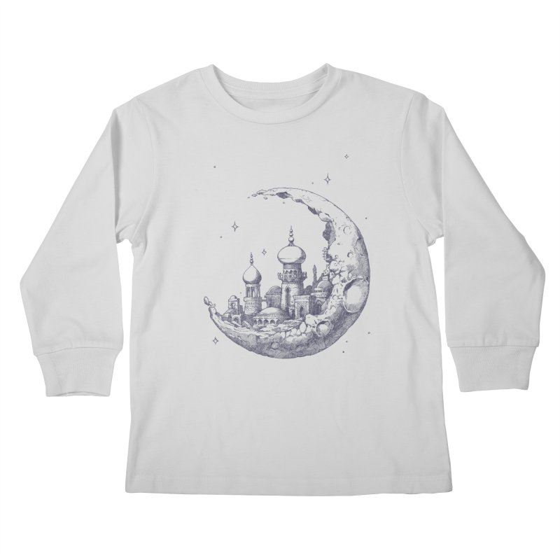 Arabian Crescent Kids Longsleeve T-Shirt by sketchboy01's Artist Shop