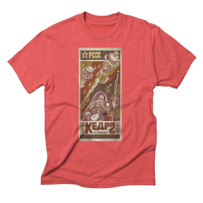 Kosmonaut Kedr Men's Triblend T-Shirt by sketchboy01's Artist Shop