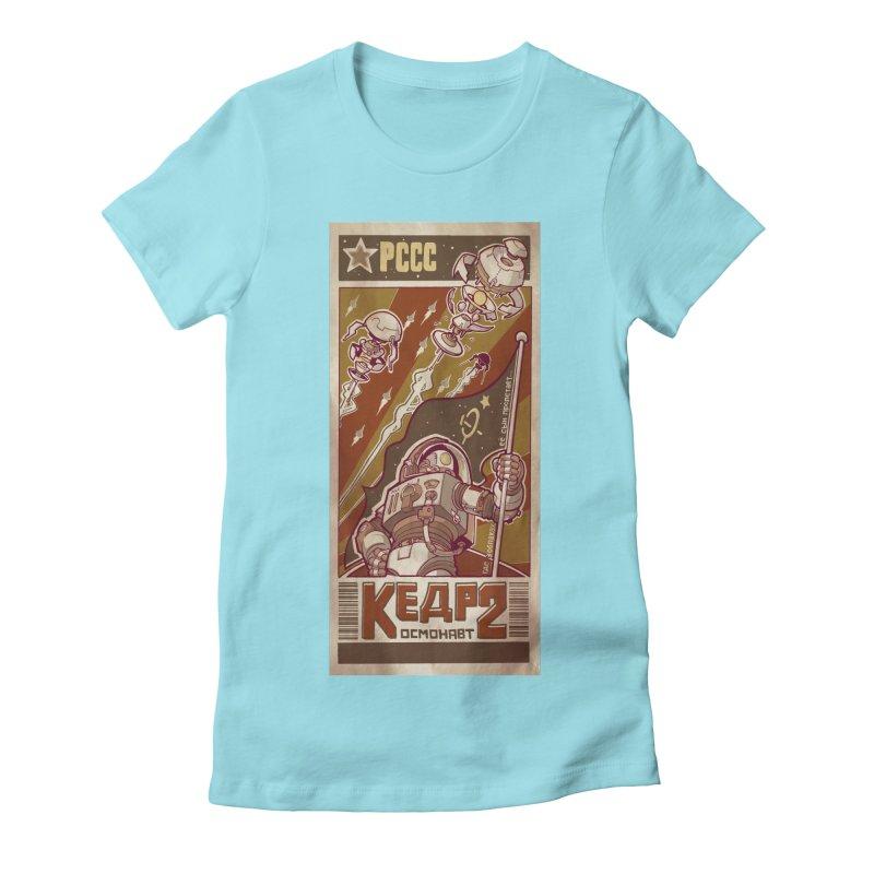 Kosmonaut Kedr Women's Fitted T-Shirt by sketchboy01's Artist Shop