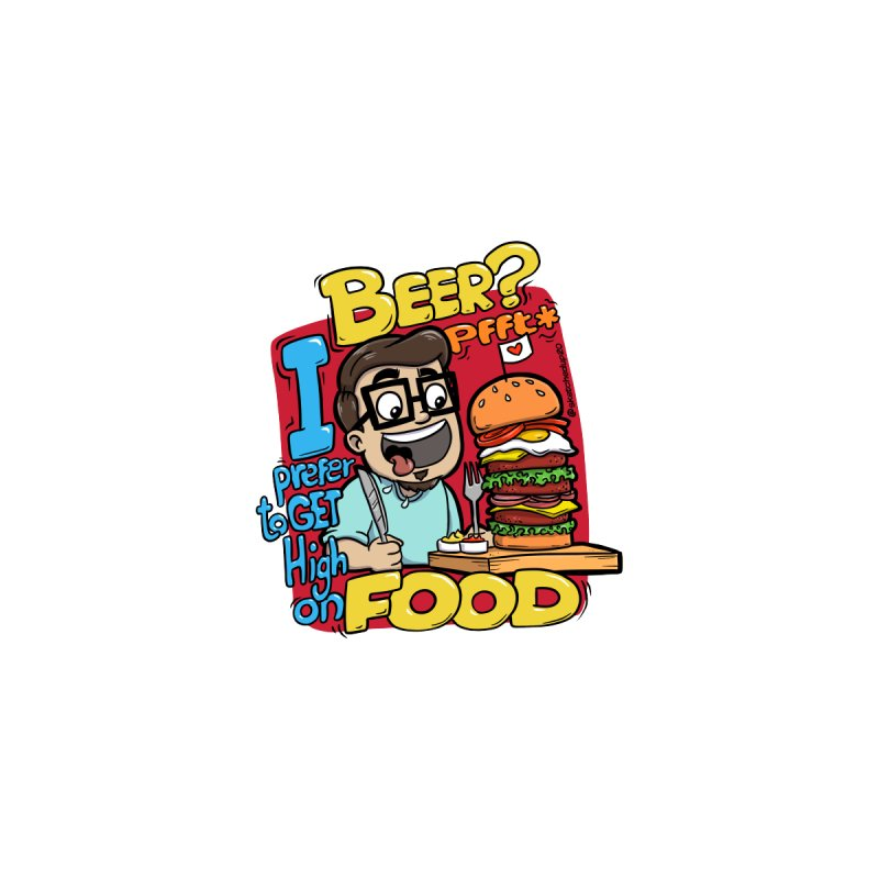 High On Food Accessories Sticker by sketchedup20's Shop