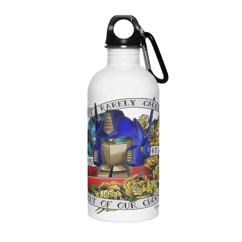 Robots in Disguise Accessories Water Bottle by sketchesbecrazy