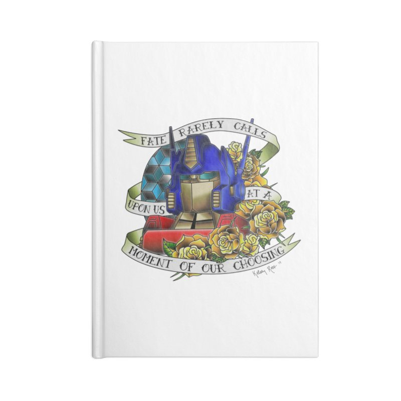 Robots in Disguise Accessories Lined Journal Notebook by sketchesbecrazy