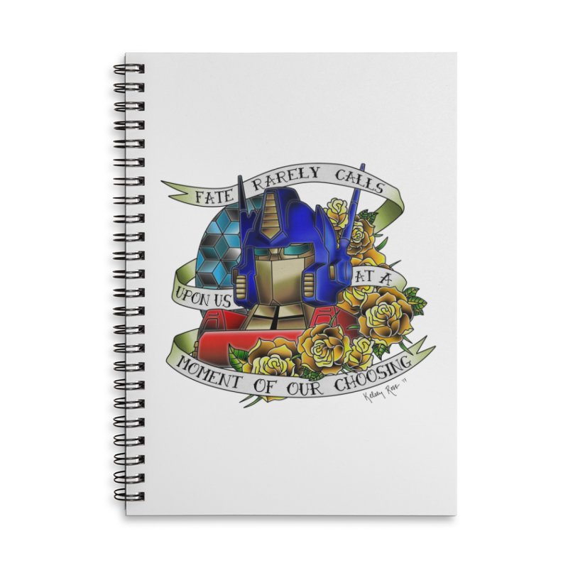 Robots in Disguise Accessories Lined Spiral Notebook by sketchesbecrazy