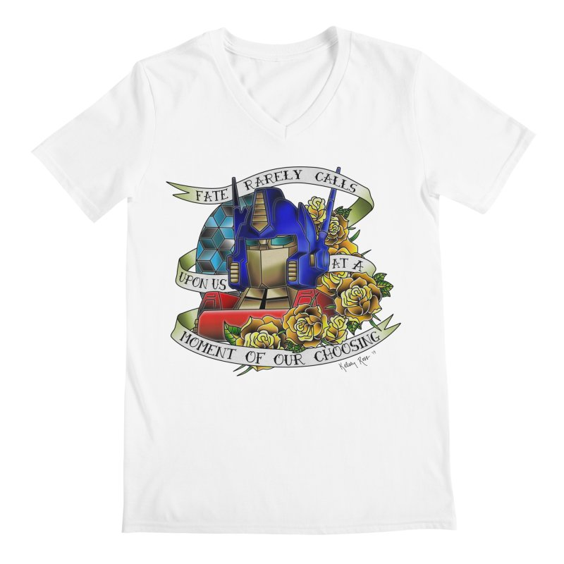 Robots in Disguise Men's V-Neck by sketchesbecrazy
