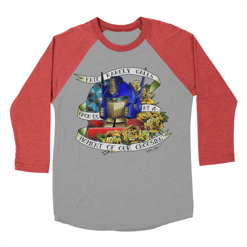 Robots in Disguise Women's Baseball Triblend Longsleeve T-Shirt by sketchesbecrazy