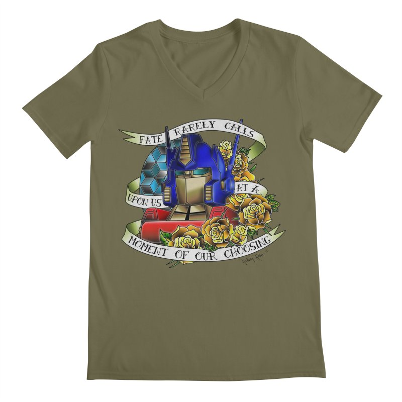 Robots in Disguise Men's Regular V-Neck by sketchesbecrazy